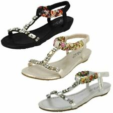 Sandalias y chanclas de mujer Spot On color principal plata