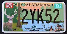 "ALABAMA "" WILDLIFE DEER DUCK FISH TURKEY BASS EAGLE "" AL Specialty License Plate"