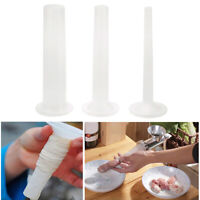 3* /set Sausage Maker Tube Casing Meat Grinder Universal Stuffing Fill Pipe Tool