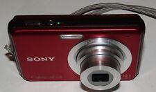 Sony Cyber-shot DSC-W180 10.1MP Digital Camera,Red,W/2GB Memory Stick,Box, Wires