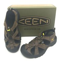 New Men's Keen Venice Leather Sport Hiking Sandals Bison Multiple Sizes