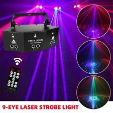 Remote 9-EYE LED Laser Projector Light RGB DMX Scan Lamp DJ Stage Party Lights