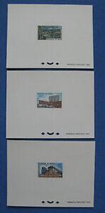 NIGER 1965 - Betonwerk - 3x Epreuve de Luxe