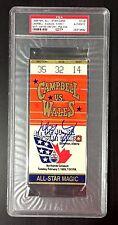 WAYNE GRETZKY SIGNED 1989 EDMONTON NHL ALL STAR GAME TICKET STUB MVP PSA RARE