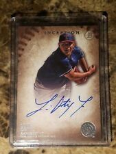 2015 Luis Ortiz Bowman Inception Auto On-Card Autograph Texas Rangers Baseball