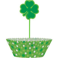 ST PATRICK'S DAY CUPCAKE KIT FOR 24 (48pc) ~ Birthday Party Supplies Decorations