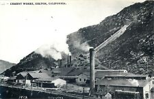 COLTON, CALIFORNIA - CEMENT WORKS 1912 - OLD REAL PHOTO POSTCARD VIEW
