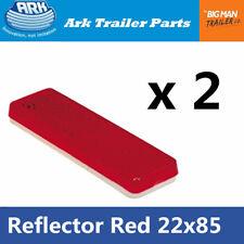 2x Red Reflector 85mm x 22mm Self Adhesive Trailer Caravan Light Truck Stick