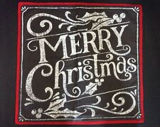 "Pottery Barn Holiday MERRY CHRISTMAS Pillow Cover 20X20"" Chalkboard New with Tag"