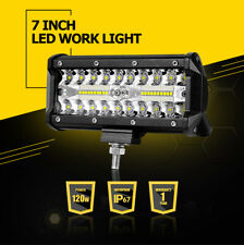 7inch 120W LED Work Light Bar Wide Flood Spot Combo Driving Offroad ATV 4WD SUV