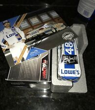 2017 JIMMIE JOHNSON #48 DARLINGTON THROWBACK AUTOGRAPHED  Signed + Hero Card