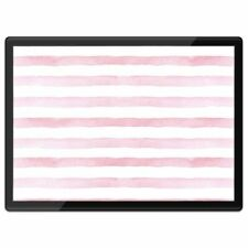 Quickmat Plastic Placemat A3 - Pretty Pink Stripes Girly  #2639