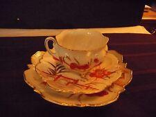 3 PIECE FOOTED TEA CUP N SAUCER N PLATE SET