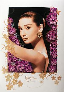 "MARIA MURGIA - ""Omaggio a Audrey Hepburn"" - Fotografia dipinta cm 100x70"