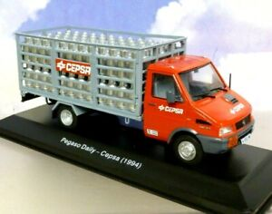 1/43 DIECAST 1994 PEGASO DAILY TRUCK (IVECO/FIAT) CEPSA WITH GAS BOTTLE LOAD