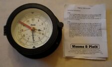 3 Vtg 2 Time Tide Clock Downeaster Weems Plath Bluewater & Sunbeam Ship Wall
