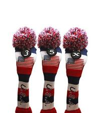 3 5 X USA GOLF Driver Headcover Red White Blue KNIT Head Covers Headcovers