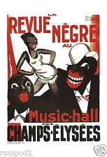 Music Poster - ' Revue Negre'  Paul Colin Poster/Art Print