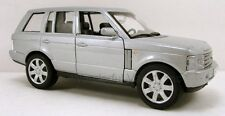 """Welly Land Rover Range Rover SUV 1:33 scale 6"""" diecast model car Silver 9882 W51"""