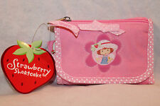 "NEW WITH TAGS STRAWBERRY SHORTCAKE PINK STRAP COIN WALLET  3-1/2"" X 5"""