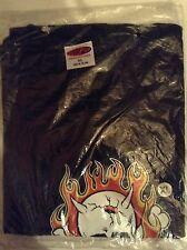 Kozik Flaming Skull XL t-shirt 1996 vintage design punk metal biker Ghostrider