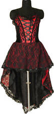Prom Dress Gothic All Sizes Red Victorian Halloween Goth Dress Sexy
