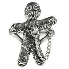 Alchemy Gothic Voodoo Doll Ring Fine English Pewter Witch Folk Magic R236 Unisex