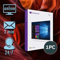 Microsoft Windows 10 Professional✔ Pro Key 32/64 Bit ✔️Vollversion Email-Versand