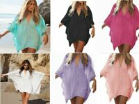 Women Lace Crochet Bikini Cover Up Swimwear Bathing Suit Summer Beach Mini Dress