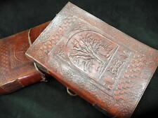 A4 ALBERO DELLA VITA WICCA in pelle fatto a mano LIBRO DELLE OMBRE Libro degli ospiti o Altare LIBRO