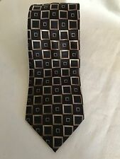Van Heusen Art Deco Box Design Black/Brown Men's Tie 👔 NWOT