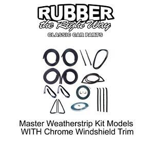 1973 - 1977 Chevy & GMC Truck Master Weatherstrip Kit - WITH Windshield Trim