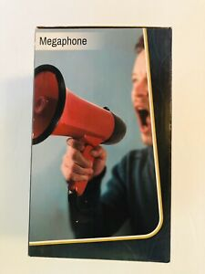 Red Megaphone  - Microphone And Siren Modes Lightweight Foldable Handle NEW