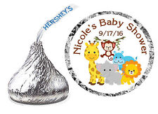 216 JUNGLE ZOO BABY SHOWER FAVORS HERSHEY KISS LABELS
