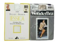 Jessica Silky Control Top and WonderBra Pantyhose Both Pairs Size C