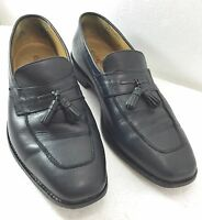 Cole Haan Mens 9M Black Tassel Loafers Moccasins Shoes Classic Slip-On