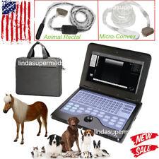 Veterinary Ultrasound Scanner VET Machine COW/Horse/Dog/Sheep+2Probe USA Vet Use