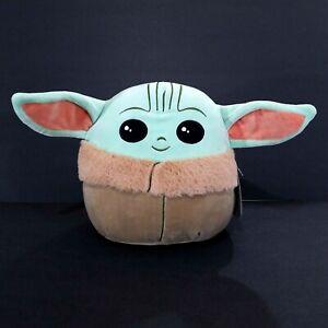 "Squishmallow 10"" BABY YODA Grogu Star Wars The Mandalorian The Child Disney"