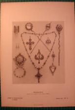 antique print jewelry jewels 1886 stich Alois Müller München Schmuckgegenstände