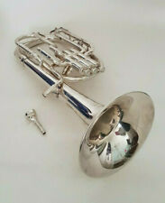 More details for besson tenor horn in eb silver 950 gs sovereign denis wick mouthpiece carry case