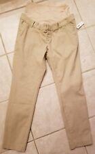 NWT Old Navy Maternity Pixie Full Panel Women's Pregnancy Pants Khakis 10 Reg