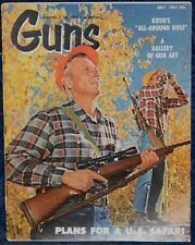 Vintage Magazine *GUNS* July 1961 !!! Plans for a U.S. SAFARI !!!