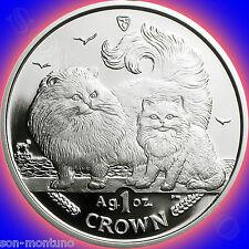 2009 Isle of Man - CHINCHILLA CAT COIN - 1oz .999 Bullion Silver Proof + BOX/COA