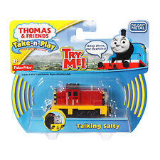 Fisher-Price Thomas & Friends Take-n-Play TALKING SALTY Die-cast Engine (CFR94)