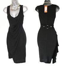 KAREN MILLEN Black Jersey Stunning V-neck Draped Dress UK 8  EU 36 Bnwt