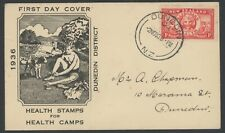 New Zealand, Fdc, #B11, W/Clean Black Cachet, 1936