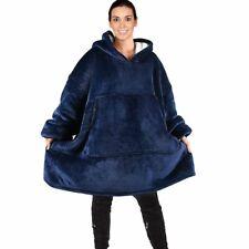 Women Warm Oversized Fleece Blanket Hoodies Sweatshirt Hooded Pocket Sleeves