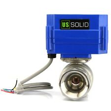 """Motorized Ball Valve - 1"""" Stainless Steel Electrical Ball Valve 9-24V 5 Wire"""