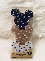 New Daiso Disney Mickey Mouse Kitchen Sponge set of 3 Mouse ears dish washing