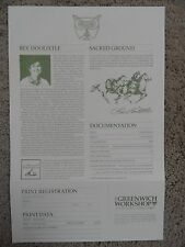"**Bev Doolittle ""SACRED GROUND"" Certificate of Authenticity/Registration**"